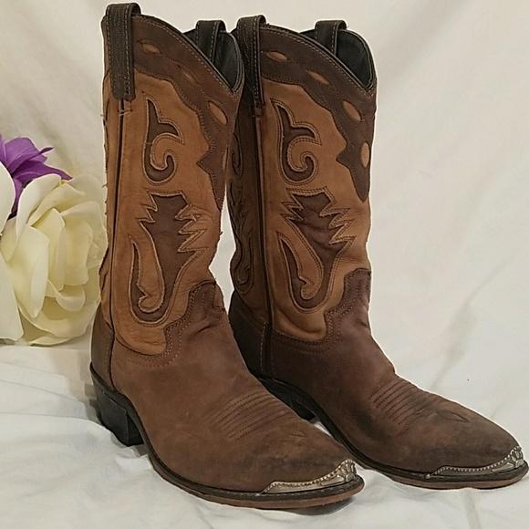 8a73f5e0c71 Men's Abilene Sage Two Tone Cutout Cowboy Boots